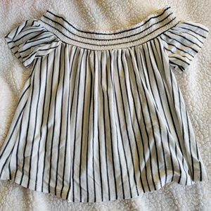 AE Striped Off Shoulder Top
